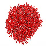 Copper Insulated Cord End Terminals Red 19AWG E7508 Pack Of 1000