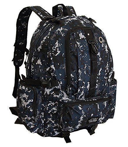 Mens ACU Navy Digital Camo Hydration Ready Outdoor Tactical Gear Hiking Backpack Daypack Bag 21 Inch
