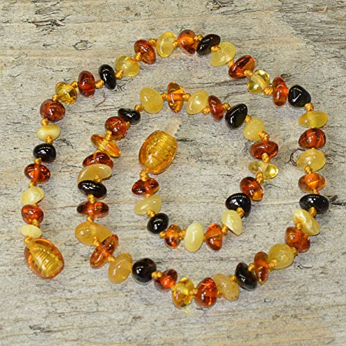 Teething Necklace for Baby From Genuine Baltic Amber - Multicolored - 1