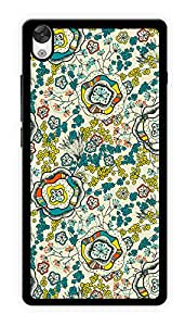"""Humor Gang Flower Illusion Printed Designer Mobile Back Cover For """"OnePlus X"""" (2D, Glossy, Premium Quality Snap On Case)"""