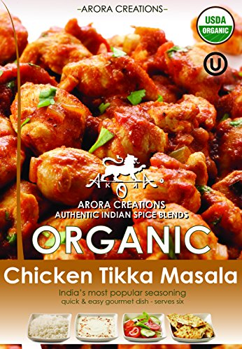 Arora Creations Organic Chicken Tikka Masala Spice Blend, 0.9-Ounce Units (Pack of 6) (Chicken Tikka Spice compare prices)