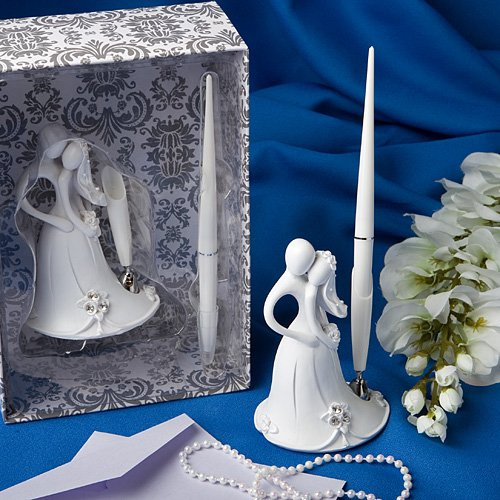 Bride and groom design wedding pen set (Set of 48)