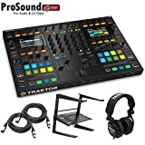 Native Instruments Traktor Kontrol S8 DJ Digital Controller - Free laptop Stand, Tascam DJ Headphone - (2) XLR Cables 15Ft each