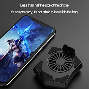 Mobile Phone Cooler Fan Holder Cooling Pad Gamepad Game Gaming Shooter Mute Radiator Controller Heat Sink