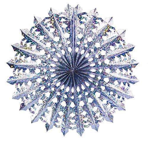 Ciao - Festone Maxi Ruota Lusso, Diametro 75 cm, Metallizzato Azzurro