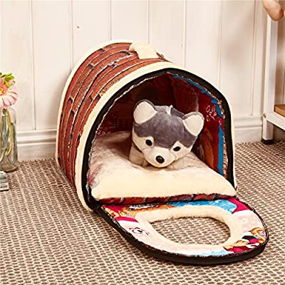 Weare Home Handbag Shape Washable Pets Dog Cat Puppy Bed Warm House with a Removable Cushion