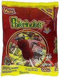 2 Pack, Dulces Vero Palerindas Tamarind Mexican Suckers 40 Count each pack