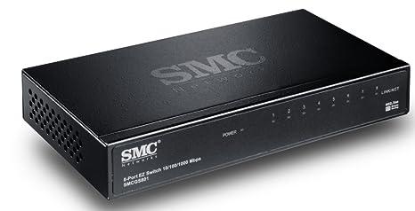 SMC EZ Switch 10/100/1000 SMCGS801 Commutateur non géré 8 x 10/100/1000 Ordinateur de bureau