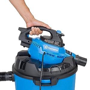 Vacmaster 12 Gallon, 5 Peak HP, Wet/Dry Vacuum with Detachable Blower, VBV1210 (Renewed) (Color: Blue, Tamaño: Pack of 1)