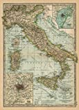 Cavallini & Co. Italy Map Decorative Decoupage Poster Wrapping Paper Sheet