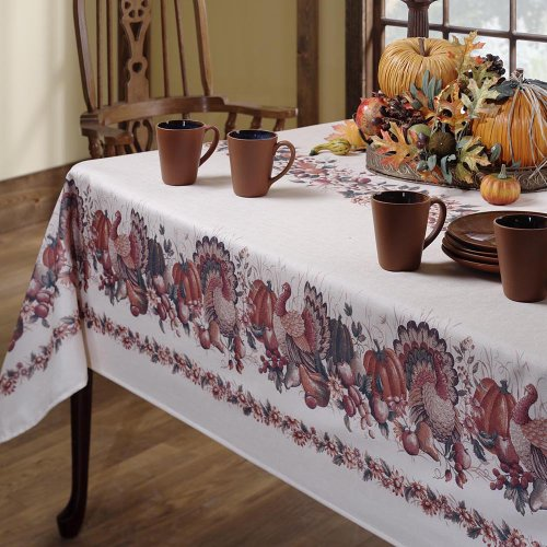 Thanksgiving Fabric Tablecloth