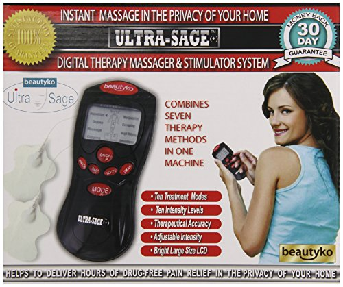 Beautyko Ultra Sage Plus Portable Ems Pain Relief Muscle Massager
