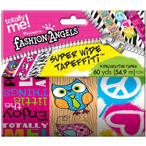 Totally Me! Fashion Angels Super Wide Tapeffiti 3 Pack - Birds/Peace Signs - 1