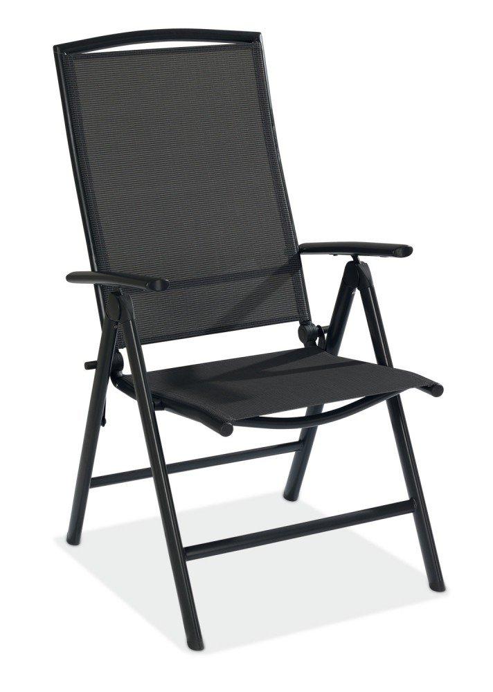 Klappstuhl Aluminium Gartenstuhl anthrazit klappbar BxH 58 x 109 cm Atlanta 1 günstig bestellen