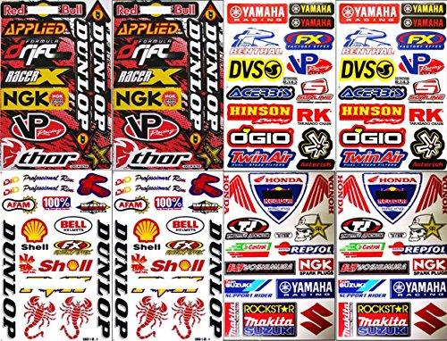 8X Atv Dirt Bike Helmet Racing Motorcycle Decal Sticker Sheets #Rc802
