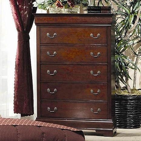 Coaster Fine Furniture 200435 Louis Philippe Style Storage Chest, Cherry