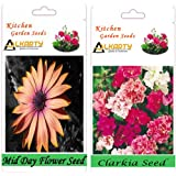 Alkarty Mid Day And Clarkia Flower Seed Pack Of 20 (Winter)