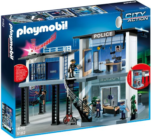 PLAYMOBIL Police Station with Alarm System on sale