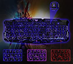 CROCON USB Illuminated Led Backlit Backlight Gaming Crack Keyboard M200 High Qaulity