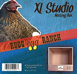 Rugged Ranch Products XLSTUDIO Nesting Box for Chicken, 15 by 15 by 15-Inch