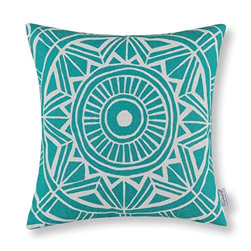 Euphoria Home Teal Decorative Throw Pillow Cover
