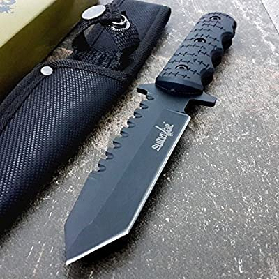 """9"""" Navy SEALs Tactical Combat Bowie Knife w/SHEATH Military Fixed Blade Survival"""