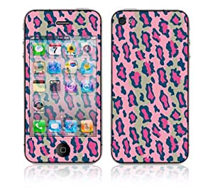 Combo Deal: Apple iPhone 4 Skin plus Anti-Glare Screen Protector - Pink Leopard