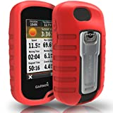 TUSITA Case for Garmin Oregon 600 600t 650 650t 700 750 750t - Silicone Protective Cover - Handheld GPS Accessories (Red) (Color: Red)