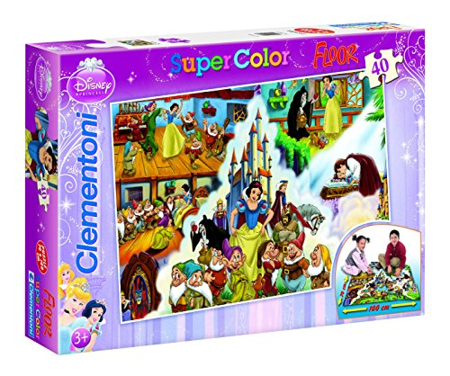Jigsaw-Puzzle-40-Pieces-Giant-Floor-Puzzle-Disney-Princess-The-Story-of-Snow-White