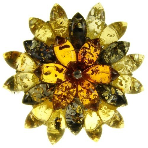 BALTIC AMBER AND STERLING SILVER 925 DESIGNER