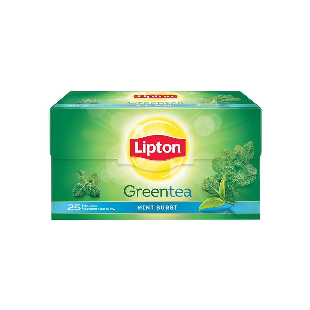 Lipton Mint Burst Green Tea Bags, 25 Pieces By Amazon @ Rs.105