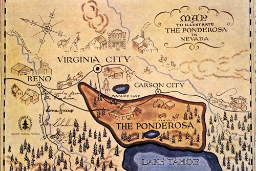 bonanza-the-ponderosa-lake-tahoe-reno-map-nevada-state-classic-tv-24x30-poster