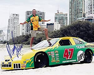 Buy AUTOGRAPHED 2007 Marcos Ambrose #47 TEAM AUSTRALIA RACING 8X10 Beach Surfing NASCAR Glossy Photo w  COA by Trackside Autographs