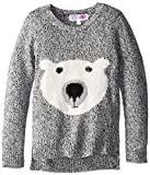 Derek Heart Big Girls Pullover Sweater with Polar Bear