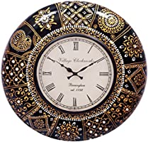 RoyalsCart Floral Design Painting Analog Wall Clock - 12 x 12 Inch