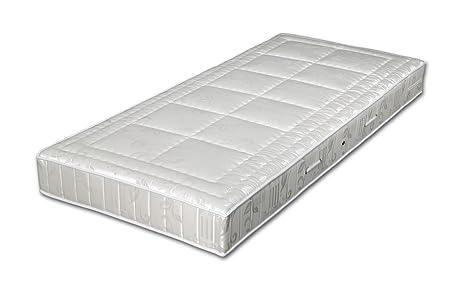 MALIE A1060300602 TFK 1000 Comfort, Tonnentaschenfederkernmatratze mit Komfortsitzkante, Größe 90x200 cm, Härtegrad 3