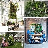 Set of 3 Black Felt Vertical Planter Garden Living Wall Decor Green Life Indoor Outdoor