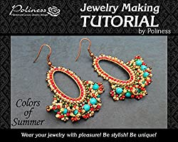DIY Jewelry making Tutorial Hoop earrings, Practical Step by step Guide on How to make Handmade Jewellery with brick stitch