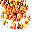 RKC ORANGE AMBER Colourful BRIGHT GLASS CHARM BEADS BUY 5 to 100 Pcs MIX Silver MULTI DESIGN Murano Lampwork European Charms FOR & FITS Pandora Troll Chamilia SNAKE Chain Bracelets Necklaces Crystals