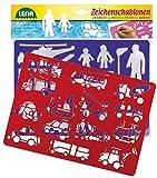 Lena 65773 - 2 Zeichenschablone Fahrzeuge und Menschen