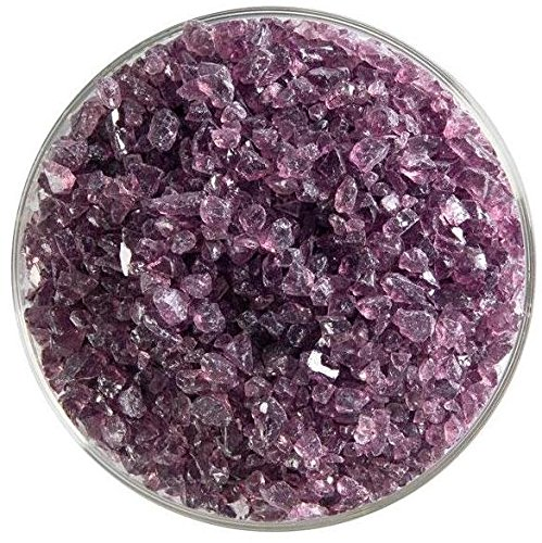 Light Violet Transparent Coarse Frit - 4oz - 90COE - Made From Bullseye Glass