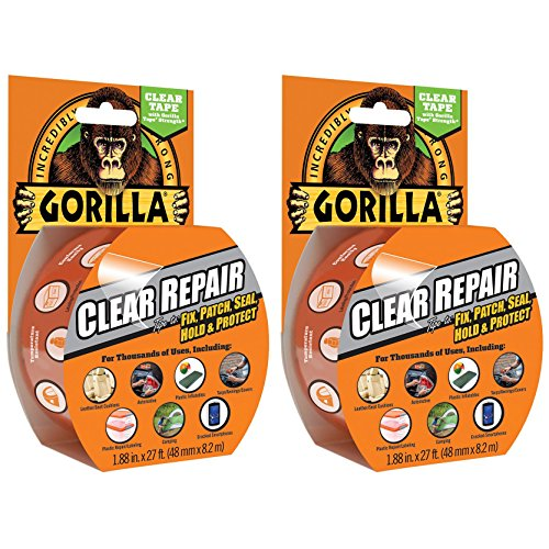 2-x-gorilla-tape-3044701-82m-repair-tape-with-gloss-finish-clear