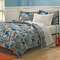 X-Factor Skateboard Bedding Teen Boys Comforter Set Gray Blue