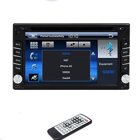 Win 6 systššme 6.2-pouces šŠcran tactile 2 din au tableau de bord stšŠršŠo CD lecteur DVD de voiture Radio Bluetooth MP3 MP4 FM RDS AM volant commande autoradio pc