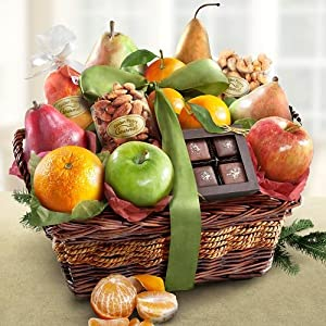 Orchard Delight Fruit and Gourmet Basket Gift