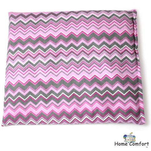 Microwaveable Heating Pad (Pink/Gray Zigzag)