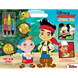 Disney Junior Jake & The Never Land Pirates - This Way, Crew: Artist Pad With Big Crayons