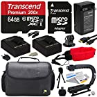 Ultimate Accessory Kit For the GoPro HERO3+ Black Edition, HERO3+ Silver Edition, HERO3 SIlver Edition, Black Edition, White Edition, HERO2 Outdoor Edition & Surf Edition Cameras - Kit Includes 64GB Micro Sd Memory Card, 2 Extended Life 2000MAH AHDBT-301 Battery Packs , AC/DC Battery Charger, HDMI to Micro HDMI Cable, Opeka X-GRIP Professional Action Stabilizing Handle + GoPro Gadget Bag Carrying Case + Floating Wrist Strap Deluxe + Lens Cleaning Kit + LCD Screen Protectors + 47stphoto Microfiber Cloth + $50 Photo Print Gift Card!