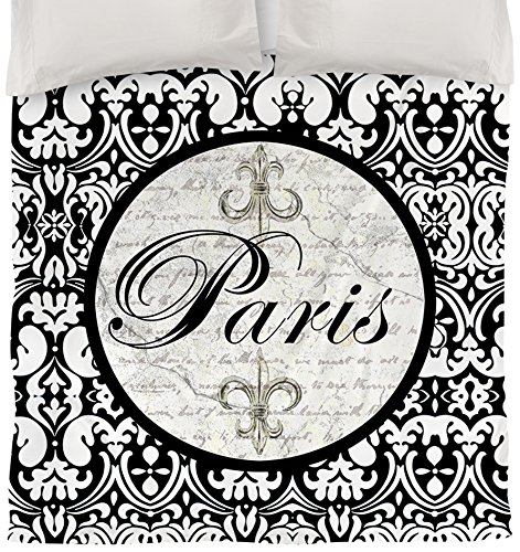 Thumbprintz Duvet Cover, Twin, Paris Circle Damask front-14675