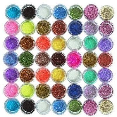 45PC nail art glitter powder dust tips decoration